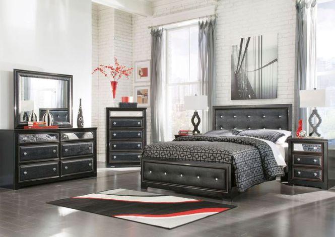 Ashley Furniture B364 Alamadyre Modern Queen Or King Panel Bed Frame Bedroom Set