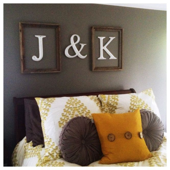 Initials Framed Above Bed The Funny Thing Is That These Are My Pas In