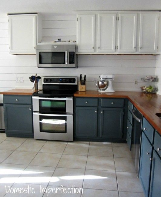 Painted Plank Walls Finally Planked Walls Cabinets And