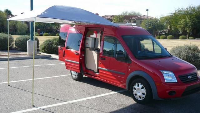 Great Ford Transit Connect Conversion Awning Mobile