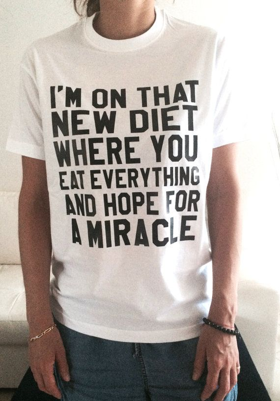 Welcome to Nalla shop :)  For sale we have these great Im on that new diet t-shirts!   With a large range of colors and sizes –
