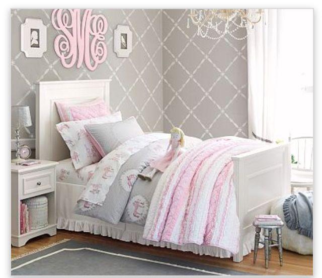 Pale Pink Gray And White Bedroom Set For My Little Girl Sophias Room Pinterest Girls