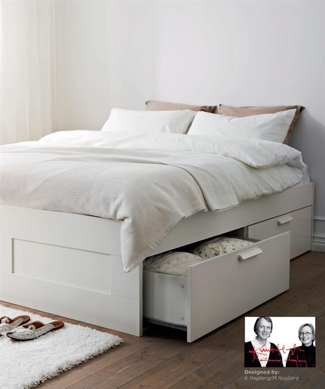 Brimnes Bed Ikea Drawer Storage Underneath Plus Can Put