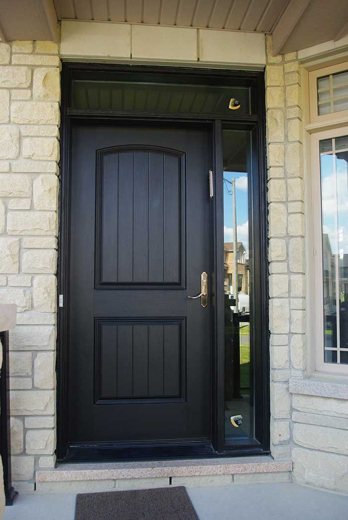 Entry Executive Fiberglass Single Solid Front Door With