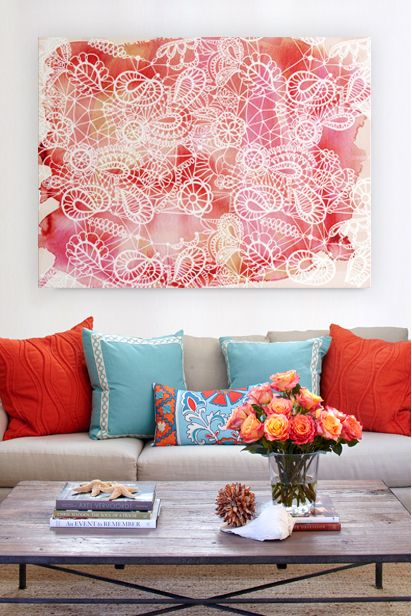 Image result for affordable art in living room