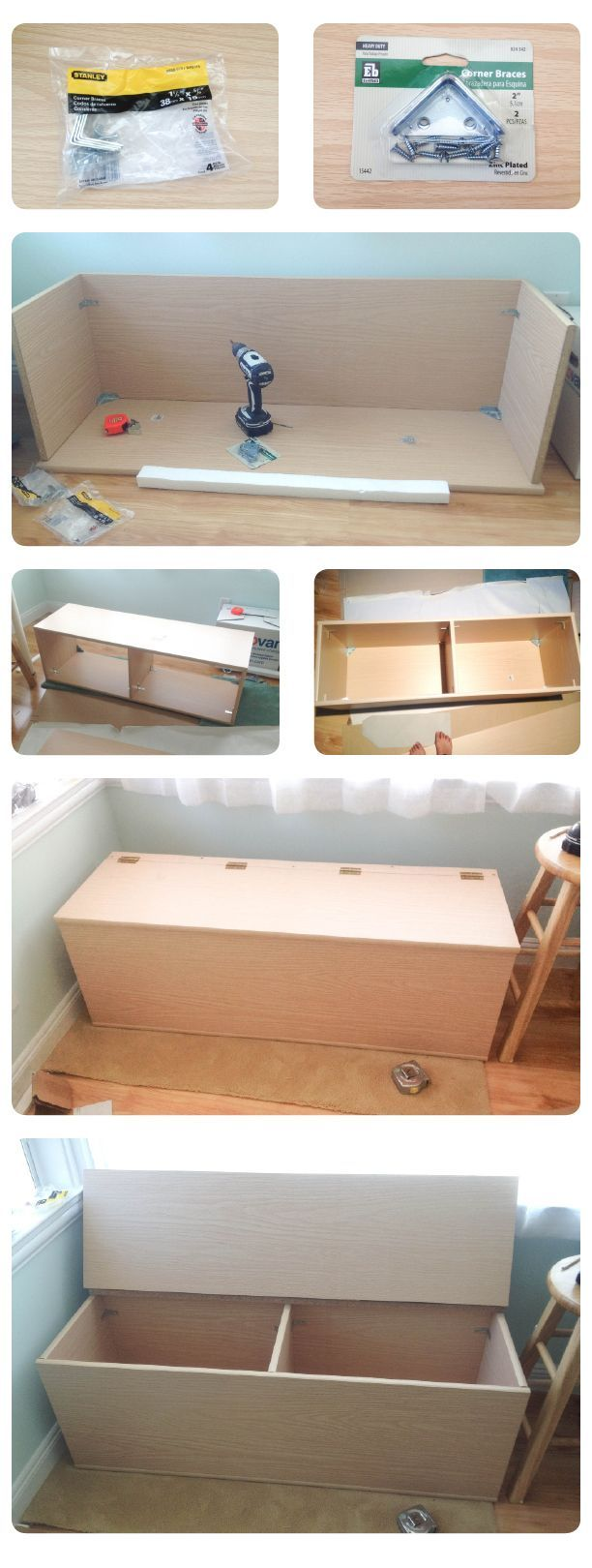 Diy Storage Bench Not Sure What Height This One Was Made To But A Great