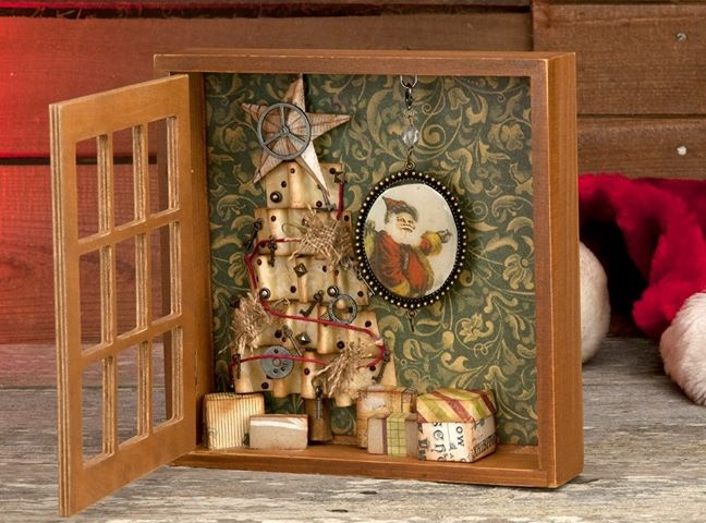 1000 Images About Christmas Shadow Boxes On Pinterest