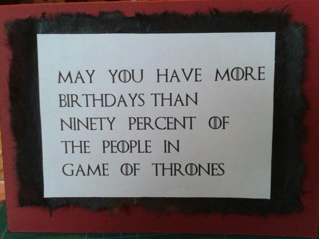 Game Of Thrones Birthday Card DIY Pinterest Game Of