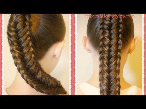 Twisted Edge Fishtail Braid, Hair Tutorial – YouTube