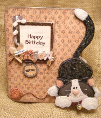 Cats Meowing Handmade Greetings And Birthday Cards On