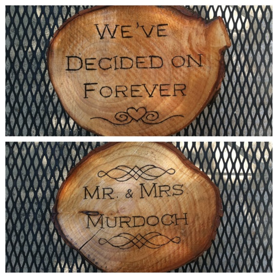 Order A Custom Wood Burned Tree Stump Or Plaque For Your