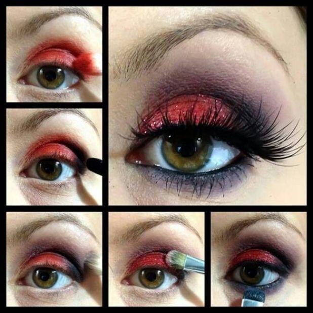 Red And Black Eye Makeup Tutorial Cartoonview