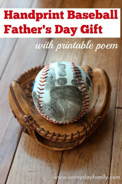 Handprint Baseball Father's Day Gift with Free Printable ...
