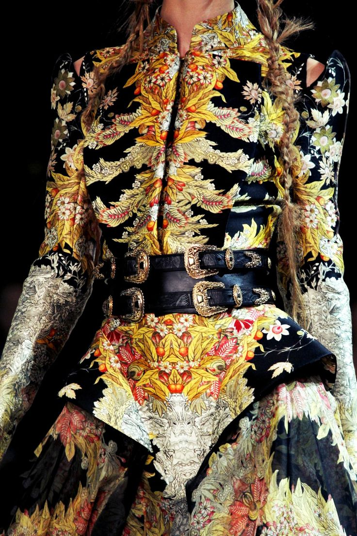 embroidery print. Alexander McQueen