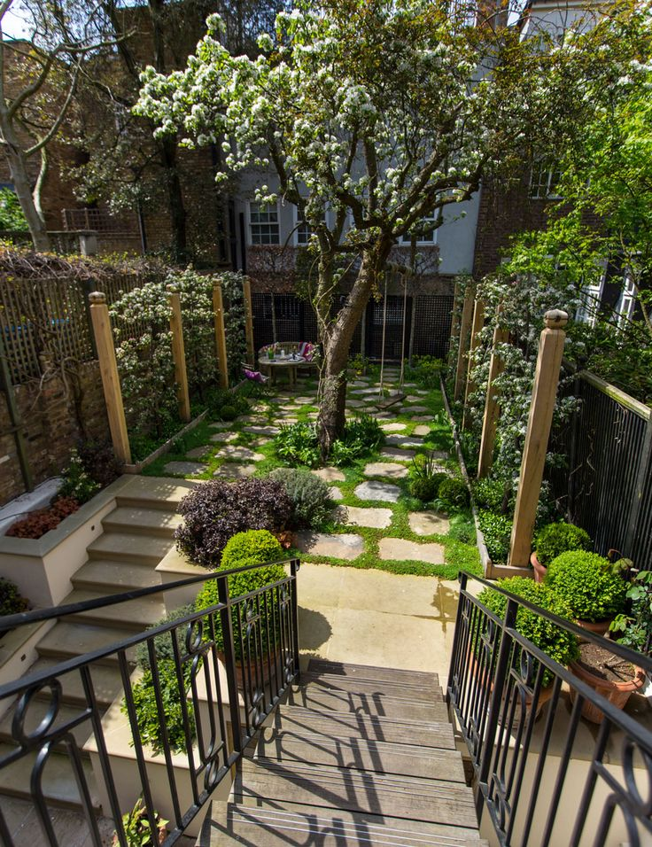 The 25+ best Terrace garden ideas on Pinterest | Garden ... on Terraced House Backyard Ideas id=40851