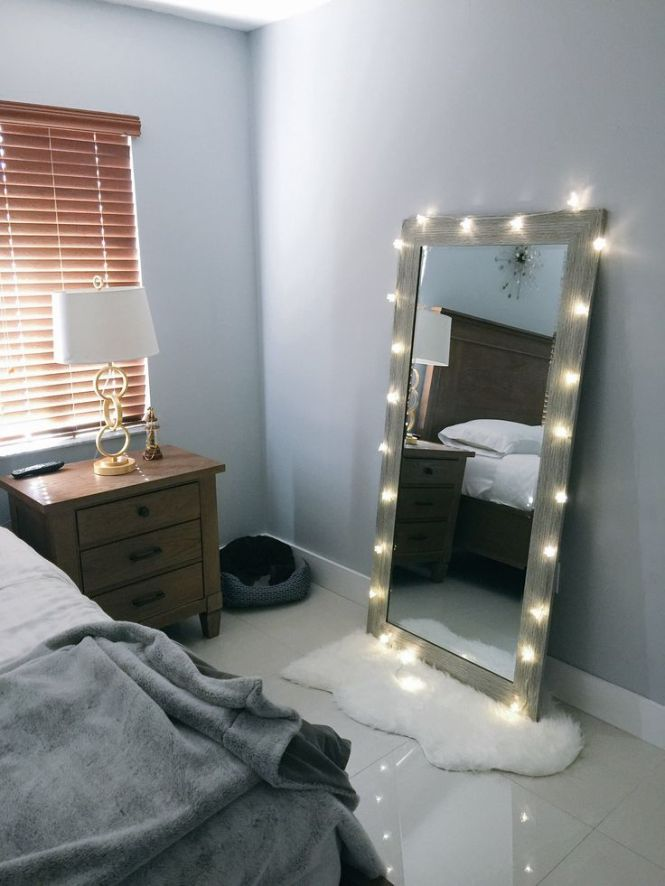 Bedroom Decore Ideas White Mirror Lights Master Wall. Bedroom Wall Mirror With Lights   Bedroom Style Ideas