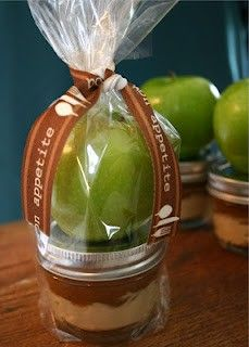 Apples with caramel cream cheese dip – put dip in mason jar and include a whole apple for a cute gift!