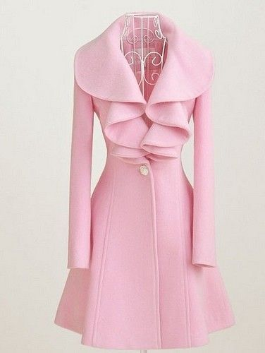 Who doesn't like pink? anna7891 #2dayslook #pink coat #pinkjacket www.2dayslook.com: