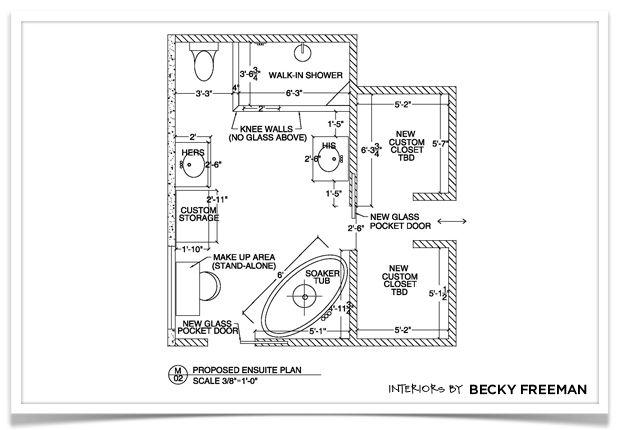 Master Bathroom Floor Plan Becky Freeman Interior Design