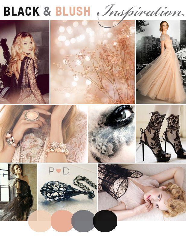 Inspiration: Black and Blush {A gla