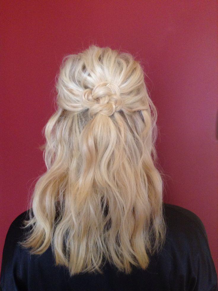 Half Up Half Down Bridesmaid Celtic Knot Blonde Beach