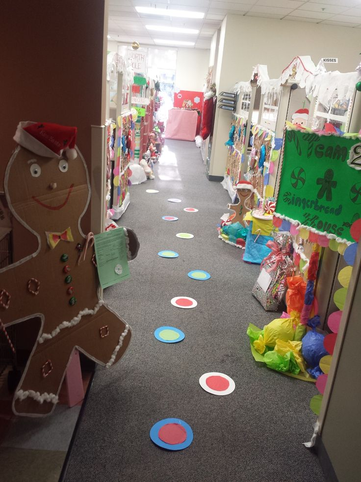 Our Gingerbread Cubicle Contest Christmas Pinterest
