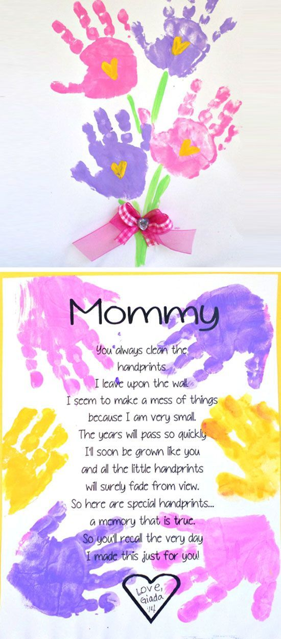 Printable Handprint Mother's Day Poem | Easy Mothers Day ...