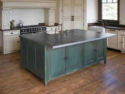 17 best images about bad ass kitchens with zinc countertops on pinterest pewter rustic on kitchen zinc id=77940