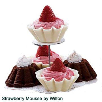 This light mousse is piped into candy shells made with Wiltons candy melts