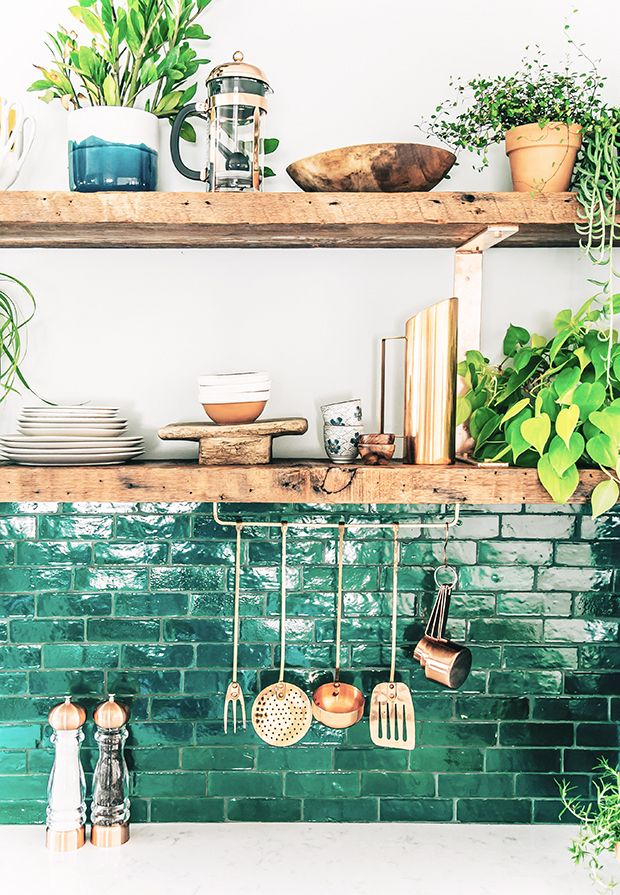 Boho Kitchen Bonanza Part 3: DIY tiered copper planter: