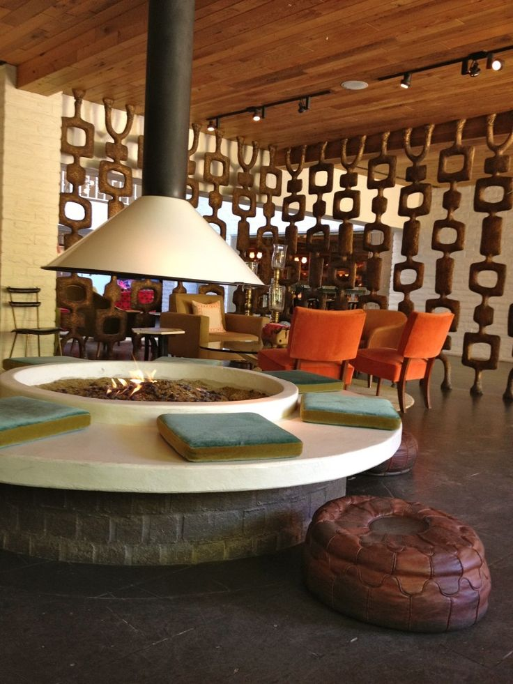 67 best images about Interior: Mid-Century Fireplaces on ... on Living Room Fire Pit id=60129