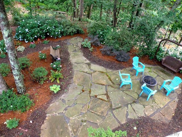 Shady backyard | Backyard | Pinterest | Stone patios ... on Shady Yard Ideas id=56103