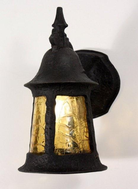 Superb Antique English Tudor Exterior Lantern Sconce
