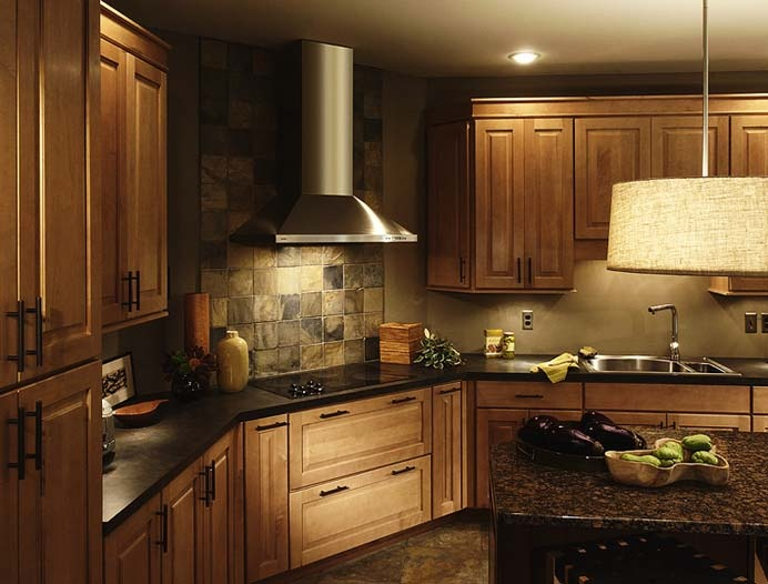 Maple cabinets | Dream Home | Pinterest | Cabinets, Hoods ... on Backsplash For Maple Cabinets  id=84890
