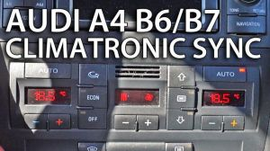 How to sync zones in #Climatronic #Audi A4 B6  B7 (tips