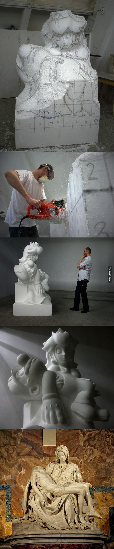 Game Over sculpture by Kordian Lewandowski