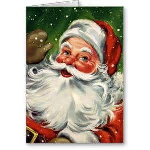 Vintage Santa Christmas Cards Bing Images Santa