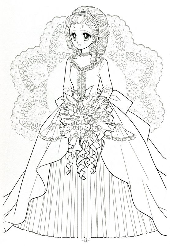 Japanese Shoujo Coloring Book 3 Mama Mia Picasa Web