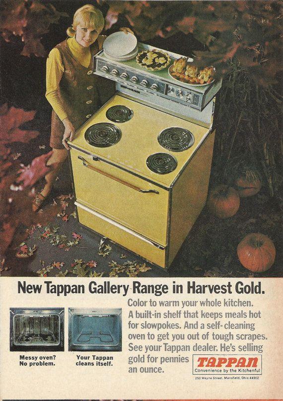TAPPAN GALLERY RANGE Original 1968 Vintage Color Print Ad