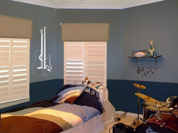 11 best images about Teen boy bedroom ideas on Pinterest ... on Teenage Room Colors For Guy's  id=66367