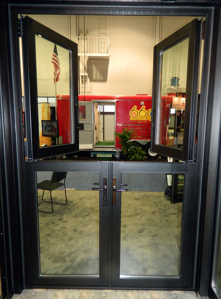 An All Glass Dutch Door Consists Of A Glass Infill In Both Panels This Configuration Allows For