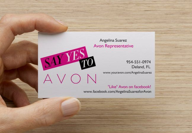 So Excited To Receive My New Avon Business Cards From Vistaprint They Showcase My Website