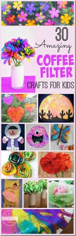 30 Amazing Coffee Filter Crafts for Kids – lots of really fun and creative kids activities for toddler, preschool, kindergarten,
