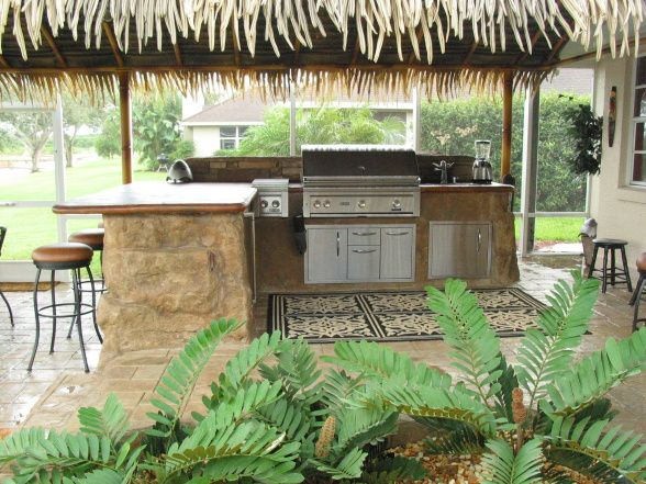 tropical patio outdoor kitchens tropical patio kitchen | Houses and Homes (Interior