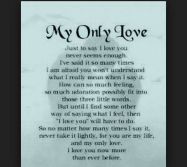 My only love | For my wife | Pinterest | Love