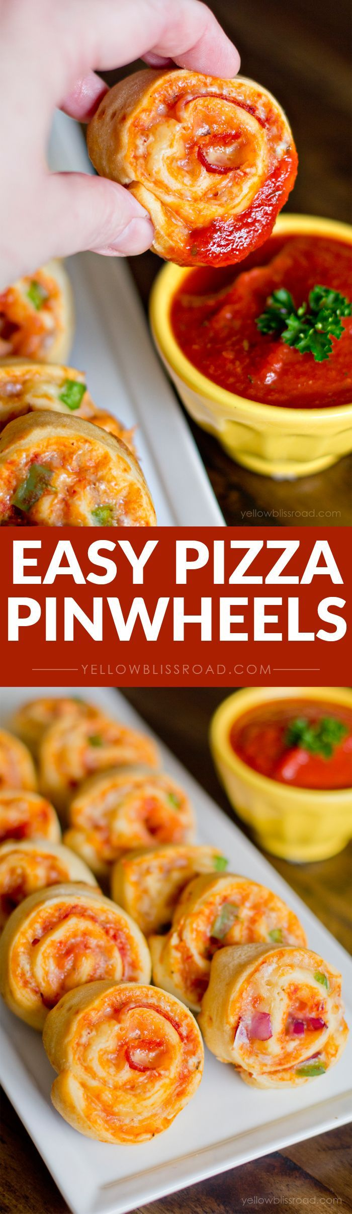 Easy Pizza Pinwheels – A fun snack and the perfect finger food!