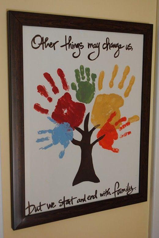 hand print family tree very cute idea