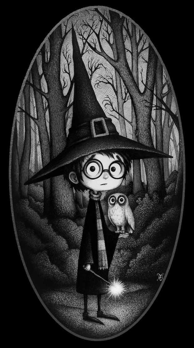 The Forbidden Forest. Artists paying tribute to Harry Potter – very much worth a click through! I had trouble choosing an image to