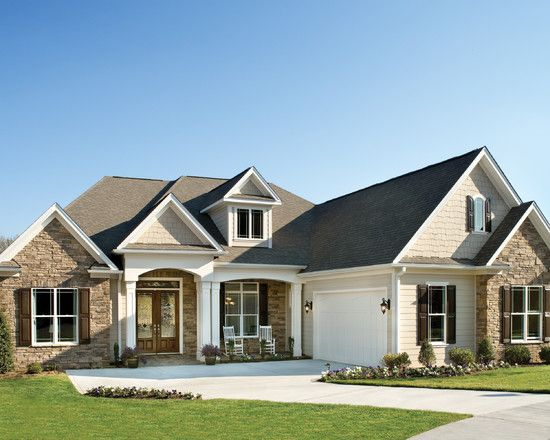 """Traditional Exterior """"one Story"""" Design, Pictures, Remodel"""