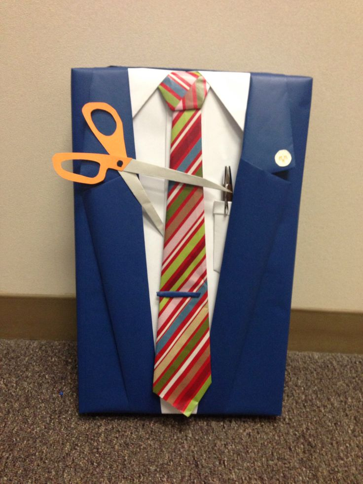 Retirement Gift Wrap Idea Manly Gift Wrap Suit And Tie